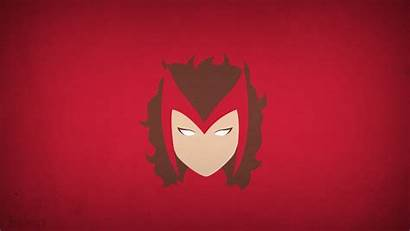 Marvel Witch Scarlet Simple Background Comics Computer