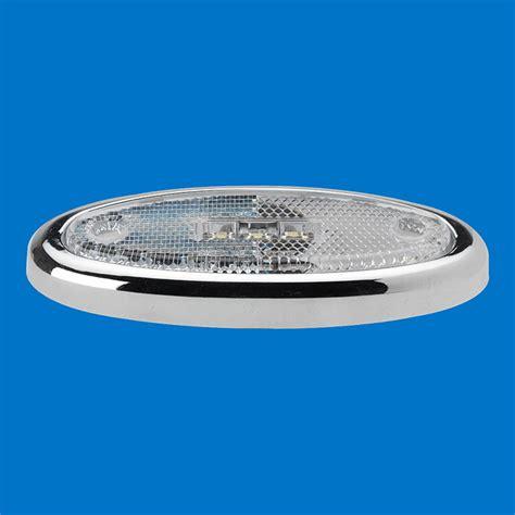 oval white led lights 3 9 quot oval led marker light with reflex lens white leds