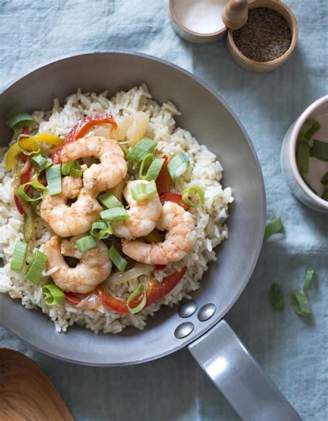 recette riz cuisiné riz sauté aux crevettes pour 4 personnes recettes à