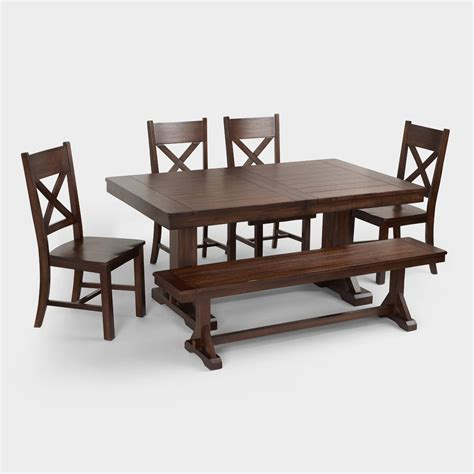 world dining table mahogany verona dining collection world market 3660