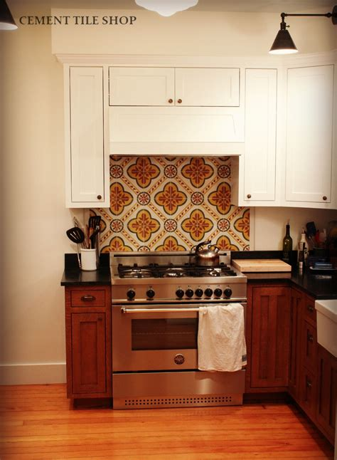 kitchen backsplash cement tile shop blog