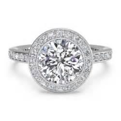 ritani engagement ring ritani micro pave halo white gold semi mount engagement ring king jewelers