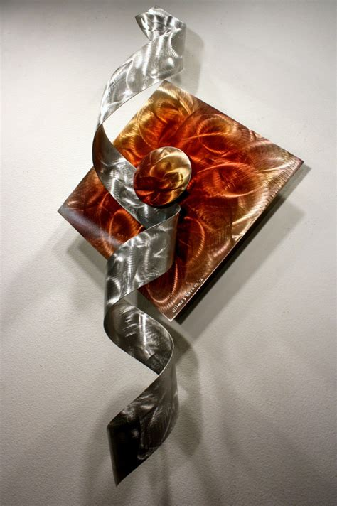 I tried one of the small pots i had and it really didn't do anything for me! Alex Kovacs - Modern Abstract Unique Metal Sculpture Rainbow Art Wall Decor - W829 - METAL WALL ...