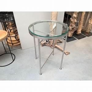 Tisch Rund Glas : beistelltisch rund glas metall tisch glas verchromt metall h he 70 cm ~ Frokenaadalensverden.com Haus und Dekorationen