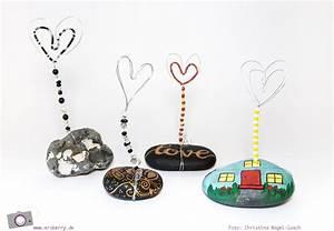 Bilder Mit Steinen Selber Machen : diy kartenhalter aus steinen draht basteln diy und selbermachen pinterest basteln ~ Eleganceandgraceweddings.com Haus und Dekorationen