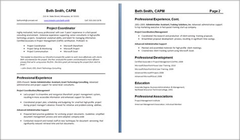 Can Resumes Be 2 Pages by Resume Resume Guide Careeronestop