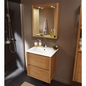 Meuble Salle De Bain Marron : meuble de salle de bains marron leroy merlin viving ~ Melissatoandfro.com Idées de Décoration