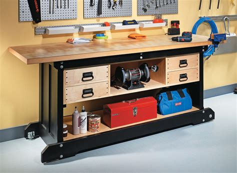 diy workbench woodworking project woodsmith plans