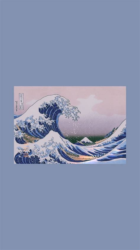 great wave art iphone wallpaper art hoe tumblr purple
