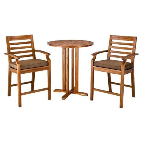 smith and hawken patio furniture target island 3 wood patio bar height bist target