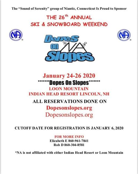 annual dopes slopes connecticut region