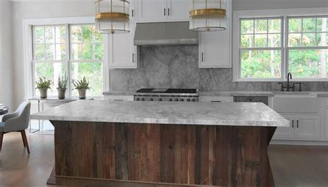 gray and white rugs kitchen with salvaged wood island contemporary kitchen