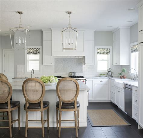 Kitchen with Half Height Backsplash   Transitional