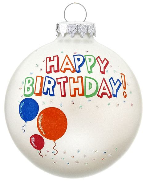 happy birthday personalized ornament