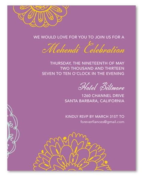wording  mehndi invitation google search