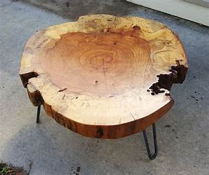 clearance pecan round coffee table by luttrelldesigns on With pecan wood coffee table