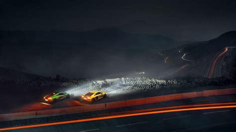 Audi R8 And Mclaren P1 At Night Hd Wallpaper