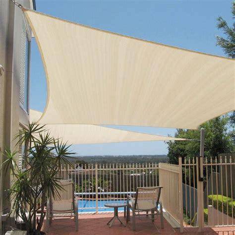 xx beige triangle sun shade sail fabric canopy patio cover garden pergola ebay