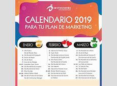 Calendario de Marketing 2019 Diseña el plan de marketing