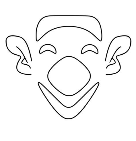 clown gesicht basteln ausmalbild einfaches clown gesicht ausmalbilder kostenlos zum ausdrucken
