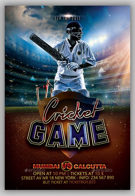 cricket flyer templates  premium psd vector