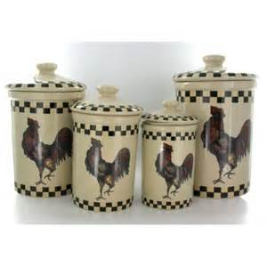 Country Kitchen Canister Set Kitchen Rooster Canister Set Of 4 Country Style