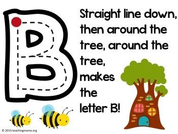 alphabet formation rhymes  teaching mama blog tpt