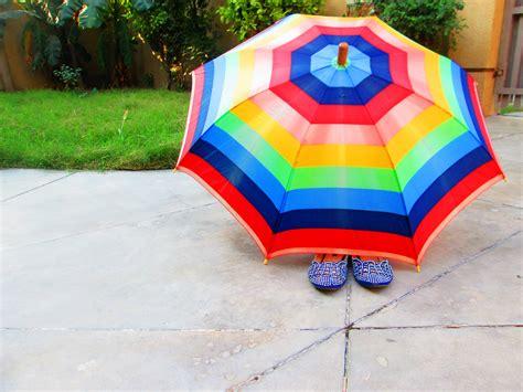 umbrella floating  day time  stock photo