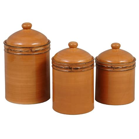 rustic kitchen canisters rustic ranch canister set 3 pcs for the home