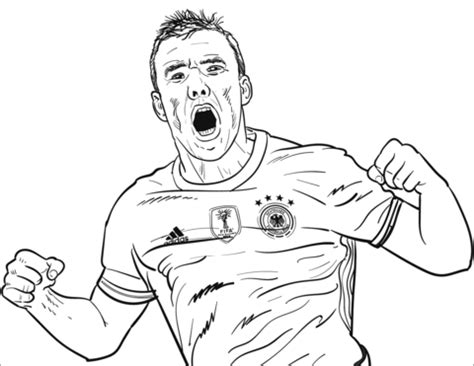 lukas podolski coloring page  printable coloring pages