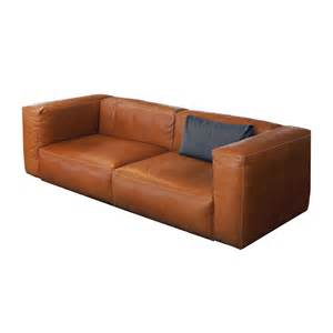 Danish Leather Chair by Mags Soft 2 5 Seater Leather Sofa Hay Ambientedirect Com