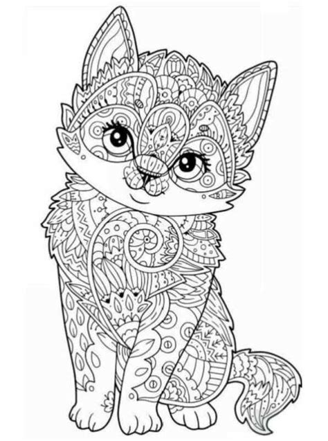 coloring page animals  teens  adults dsnanimal