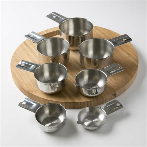When making coffee, remember that a standard us cup equals 8 fl ounces, while a coffee pot cup is just 5 ounces. Measuring Cups 7 Piece with New 1/8 cup (Coffee Scoop) by ...