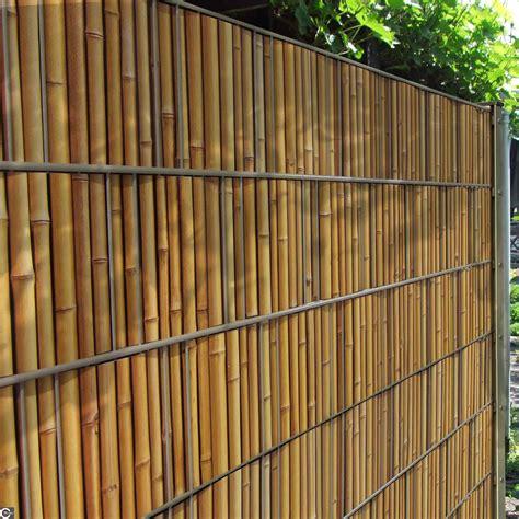 Garten Sichtschutz Bambus Natur by Sichtschutz Zaunstreifen Mit Bambuszaun Motiv Zum Einflechten