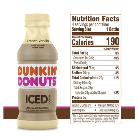 We have sweetened syrup swirls, which we always have caramel, mocha, french vanilla, and hazelnut, as well as. Dunkin' Donuts French Vanilla Iced Coffee Bottles, 9.4 fl ...