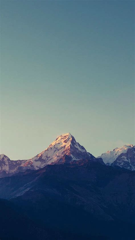 Blue Nature Wallpaper For Mobile by Mountain Blue High Sky Nature Rocky Iphone 5s Wallpaper