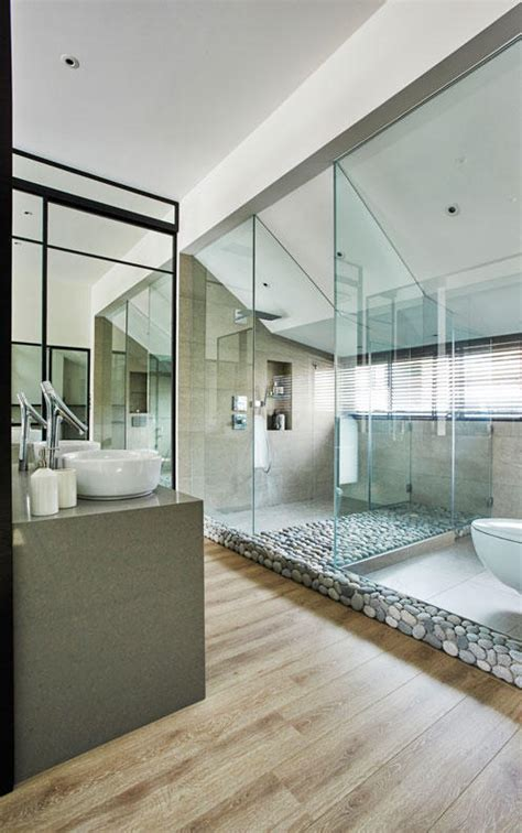 7 classy homes with openconcept bathrooms home amp decor