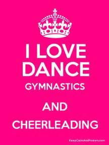Dance Keep Calm and Love Gymnastics