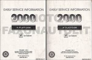 2000 Buick Le Sabre Repair Shop Manual Original 2 Volume Set