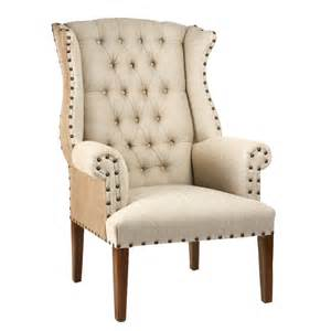 Tufted Wingback Dining Room Chairs by Tufted Wing Chair