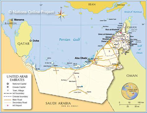 map   united arab emirates israa miraj net
