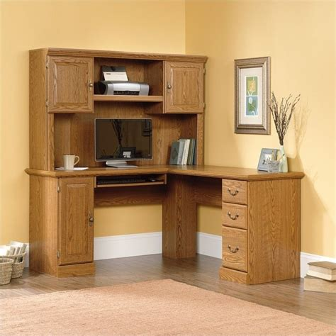 l shaped oak computer desk sauder orchard hills l shaped computer desk in carolina