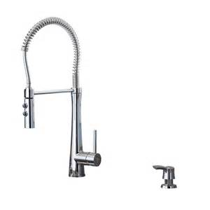 giagni fresco stainless steel 1 handle pull kitchen faucet shop giagni fresco polished chrome 1 handle deck mount pre rinse kitchen faucet at lowes
