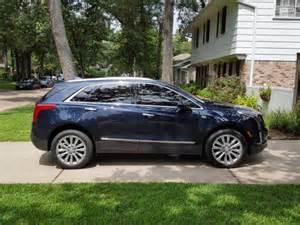 Blue 2017 Cadillac XT5