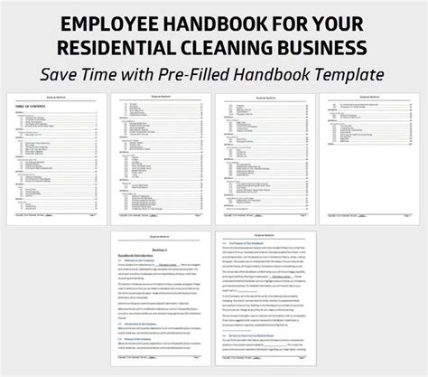save time   pre filled employee handbook template