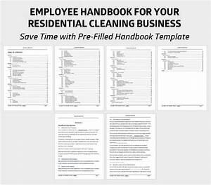 13 best cleaning business forms images on pinterest With employee handbook template for small business