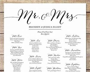 simple wedding seating chart romantic wedding With bridal shower seating chart template