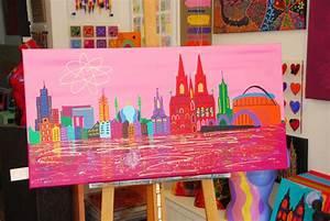 Leinwand Köln Skyline : acrylmalerei acryl leinwand skyline k ln ein ~ Sanjose-hotels-ca.com Haus und Dekorationen