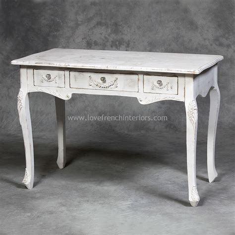 white distressed desk dressing table or writing desk in distressed white