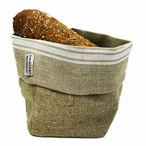 French Monogramme Linen Bread Basket by Thieffry Freres ...